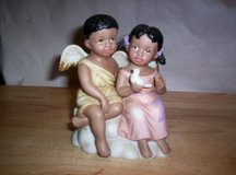 "HOME INTERIORS ""DOUBLE BLESSINGS, ANGELS OF LOVE""  PORCELAIN FIGURINE in Camp Lejeune, North Carolina"