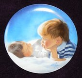 """""""Brotherly Love"""" Collector Plate by Donald Zolan in Ramstein, Germany"""
