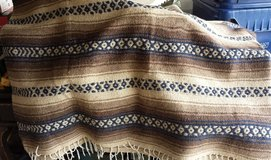 REDUCED Brown Wool Blanket - Western Design in Oswego, Illinois
